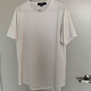 Men's extra long white t shirt